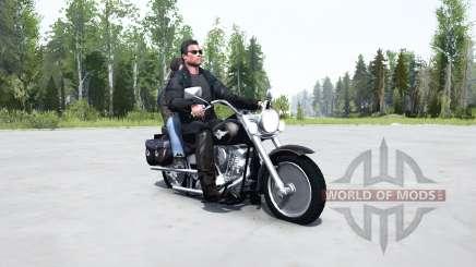 Harley-Davidson FLSTF Fat Boỿ pour MudRunner