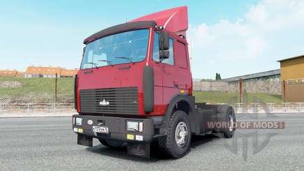 MAZ-54323 de couleur rouge vif pour Euro Truck Simulator 2