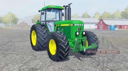 John Deere 4455 dark pastel green pour Farming Simulator 2013