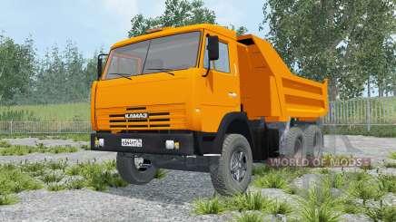 KamAZ-55111 orange Farbe für Farming Simulator 2015