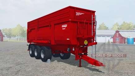 Krampe Big Body 900 S boston university red für Farming Simulator 2013