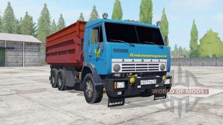 KamAZ-55102 avec remorque GKB-8551 pour Farming Simulator 2017