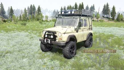 UAZ-469 soft-couleur jaune pour MudRunner