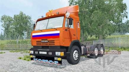 KamAZ-54115 lumineux de couleur orange pour Farming Simulator 2015