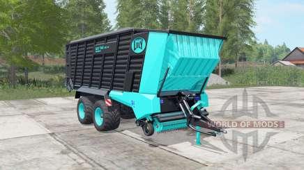 Lely Tigo XR 75 D turquoise blue pour Farming Simulator 2017