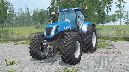 New Holland T7.270 spanish sky blue pour Farming Simulator 2015