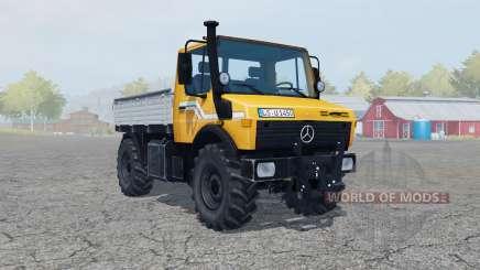 Mercedes-Benz Unimog U1450 (Br.427) vivid orange pour Farming Simulator 2013