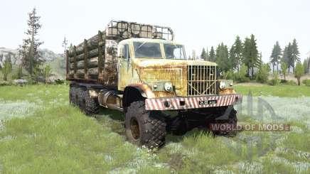 Le KrAZ-255B 8x8 pour MudRunner