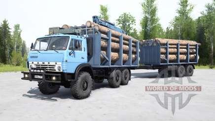 KamAZ-4310 doucement de couleur bleu pour MudRunner