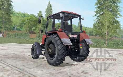 MTZ-892.2 la Biélorussie est modérément couleur rouge pour Farming Simulator 2017