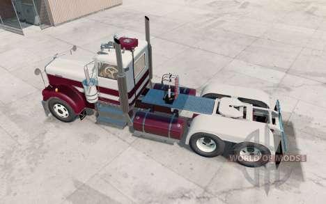 Kenworth W900A bordeaux für American Truck Simulator