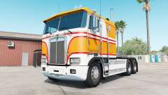 Kenworth K100E yellow orange pour American Truck Simulator