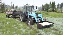 MTZ-82.1 Biélorussie soft-couleur bleu pour MudRunner