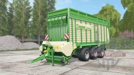 Krone ZX 550 GD pigment green pour Farming Simulator 2017
