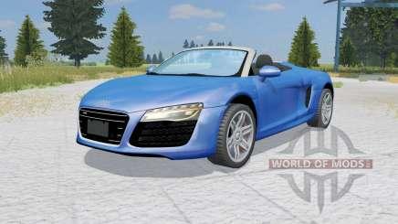 Audi R8 V10 Spyder ocean boat blue pour Farming Simulator 2015