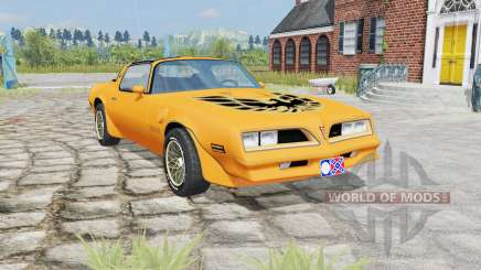 Pontiac Firebird Trans Am 1977 yellow orange für Farming Simulator 2015