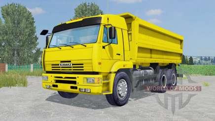 KamAZ-45143 couleur jaune pour Farming Simulator 2015