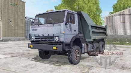 KamAZ-55111 gris bleu Okas pour Farming Simulator 2017