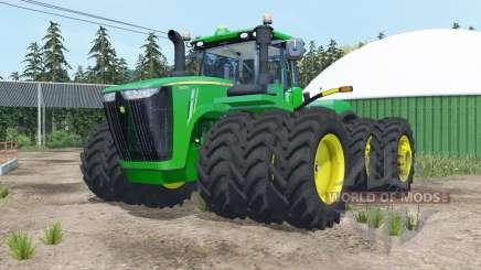 John Deere 9620R triple wheels pour Farming Simulator 2015
