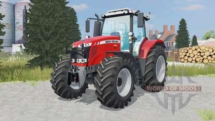 Massey Ferguson 7616 added wheels pour Farming Simulator 2015