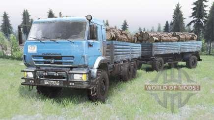 KamAZ-43118 helle Blaue Farbe für Spin Tires