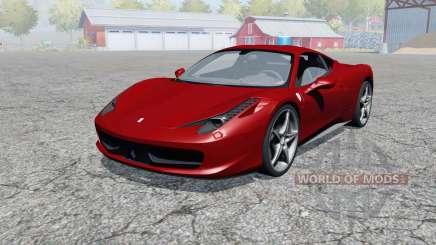 Ferrari 458 Italia 2009 pour Farming Simulator 2013