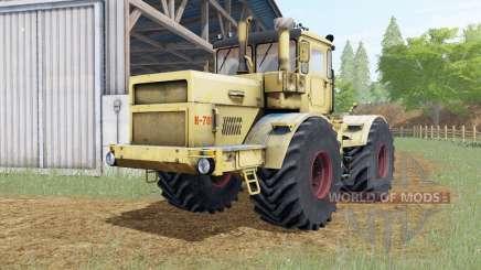 Kirovets K-701 jaune doux Okas pour Farming Simulator 2017