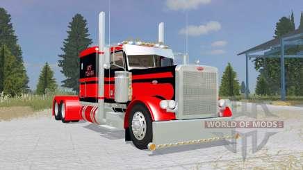 Peterbilt 379 Flat Top red pour Farming Simulator 2015
