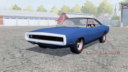 Dodge Charger RT (XS29) 1969 klein blue pour Farming Simulator 2013