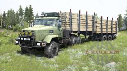 KrAZ-6322 gris-vert de couleur pour MudRunner
