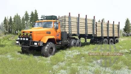 KrAZ-6322 leuchtend orange Farbe für MudRunner