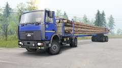 MAZ-5434 modérément couleur bleu pour Spin Tires