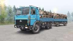 MAZ-6317 couleur bleu pour Spin Tires