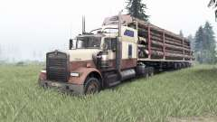 Kenworth W900 rose taupe pour Spin Tires
