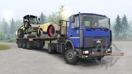 MAZ-5434 couleur bleu foncé pour Spin Tires