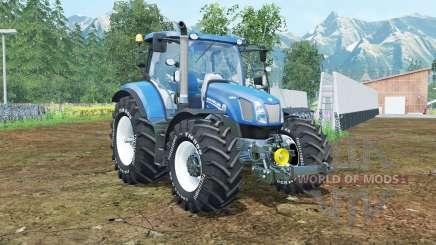 New Holland T6.160 spanish sky blue für Farming Simulator 2015