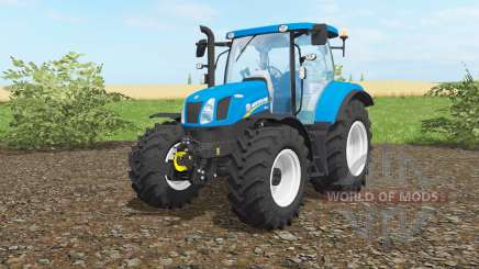 New Holland T6.160 vivid cerulean für Farming Simulator 2017