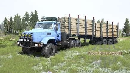 KrAZ-6322 hellblau für MudRunner