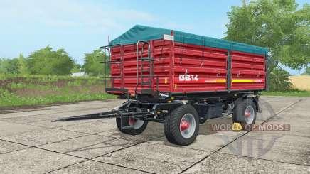 Metaltech DB 14 alizarin crimson für Farming Simulator 2017