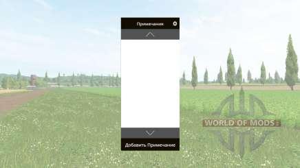Ordinateur portable v2.1 pour Farming Simulator 2017