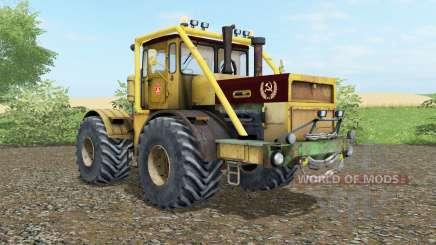 Kirovets K-700a variateur électronique souple de couleur jaune pour Farming Simulator 2017