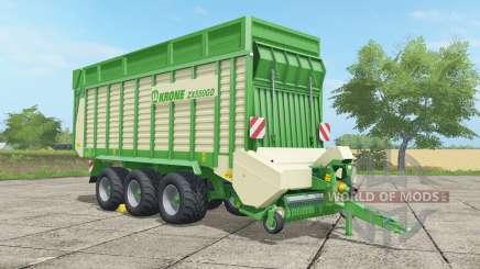 Krone ZX 550 GD malachite pour Farming Simulator 2017