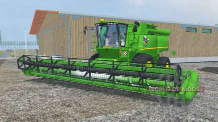 John Deere S690i dark pastel green pour Farming Simulator 2013