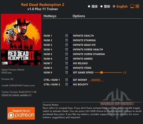 Red Dead Redemption 2 Entraîneur