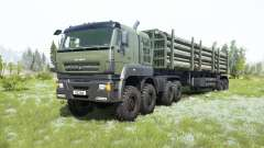 KamAZ-65228 gris-vert de couleur pour MudRunner