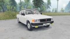 GAZ-31029 Wolga-Licht-Farbe Grau für Spin Tires