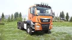 MAN TGS cadmium orange pour MudRunner