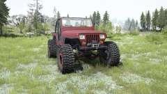 Jeep Wrangler (YJ) pale carmine pour MudRunner