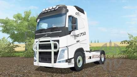 Volvo FH16 750 anti flash white für Farming Simulator 2017