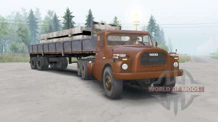 Tatra T148 6x6 v1.1 cherry color pour Spin Tires
